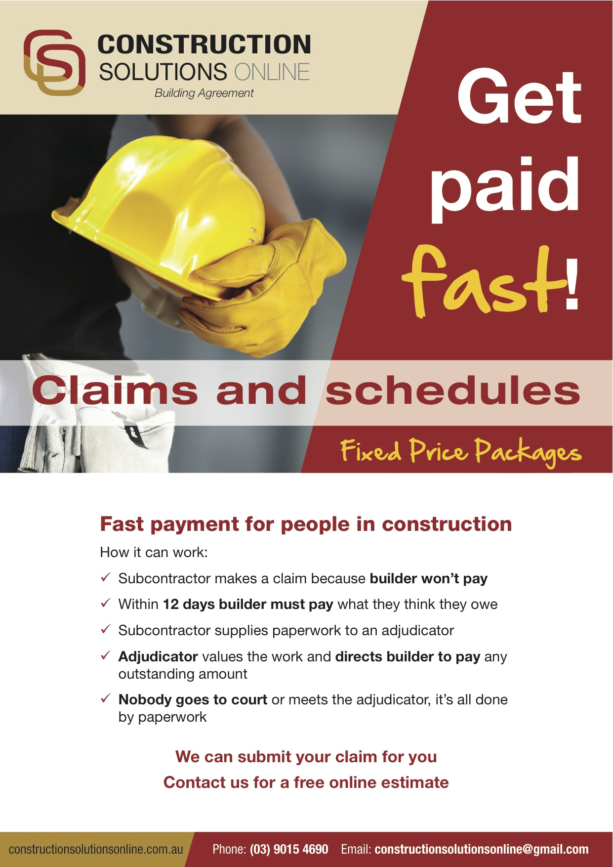 Construction Services Flyer : Owner hasn t paid my securityofpaymentsact sop